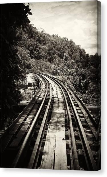 Death Railway Canvas Print by Lois Romer