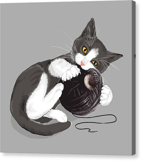 Death Canvas Print - Death Star Kitty by Olga Shvartsur