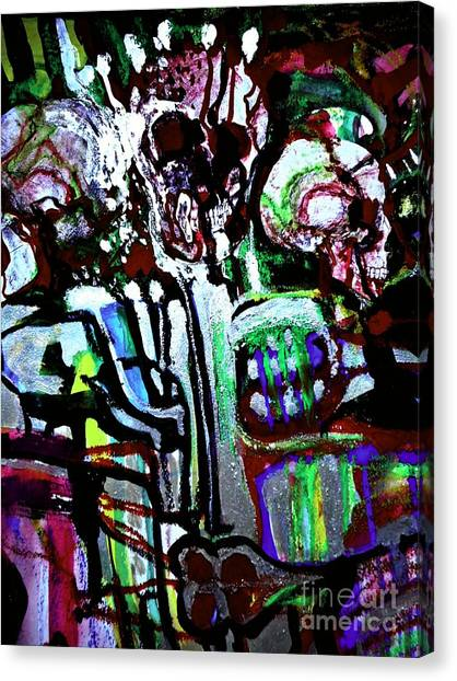 Death Study-3 Canvas Print