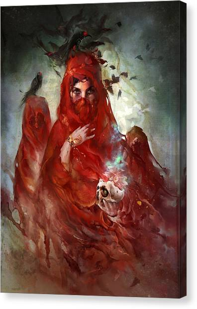 Death Canvas Print - Death by Te Hu