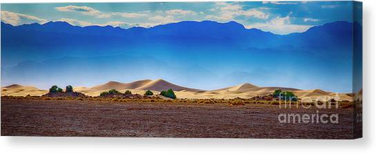 Canvas Print featuring the photograph Death Valley Dunes by Ron Sadlier