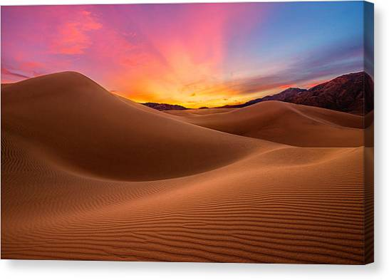 Death Valley Canvas Print by Lincoln Harrison