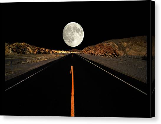 Death Valley Moon Rise Canvas Print