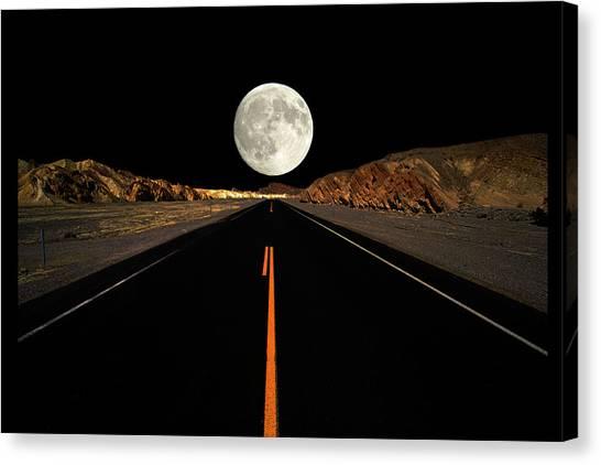 Death Valley Moon Rise Canvas Print