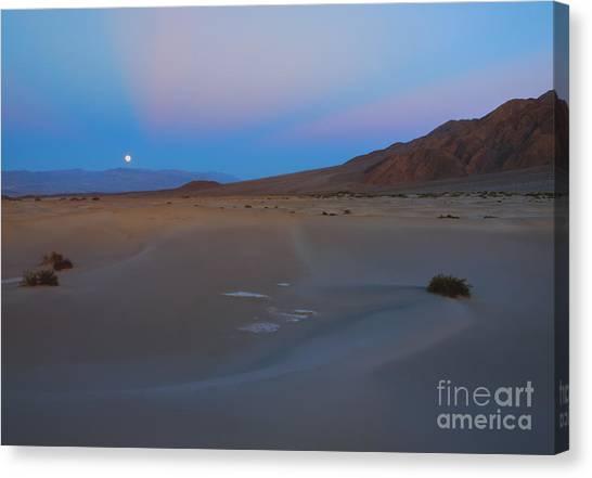 Death Valley Canvas Print - Death Valley Moonrise by Mike Dawson