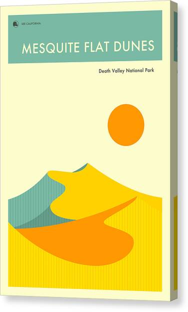 Death Valley Canvas Print - Death Valley National Park Poster by Jazzberry Blue