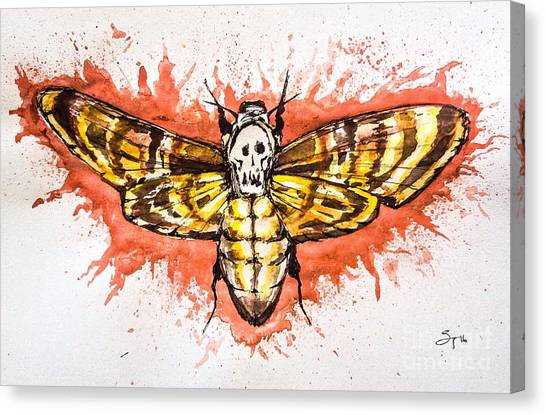 Silence Of The Lambs Canvas Print - Death's-head  by Shayla Tansey