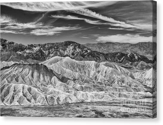 Deathvalley Cracks And Ridges Canvas Print