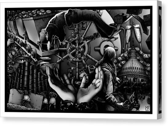 Debt To America Canvas Print