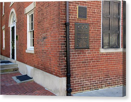 Stephen Barry Canvas Print - Decatur House by Cora Wandel