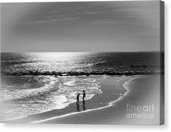 December At The Jersey Shore Canvas Print