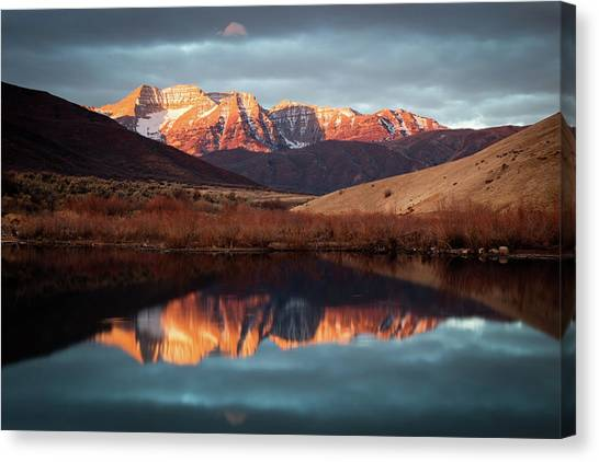 December Glow On Timp. Canvas Print