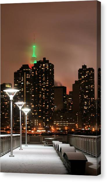 December In New York Canvas Print by JC Findley