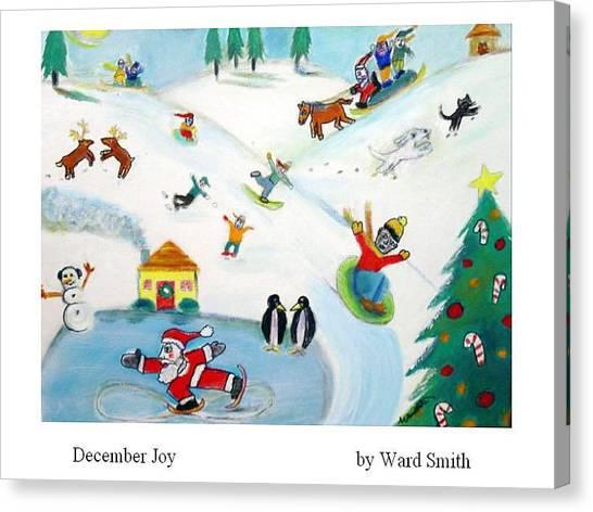 December Joy Canvas Print by Ward Smith