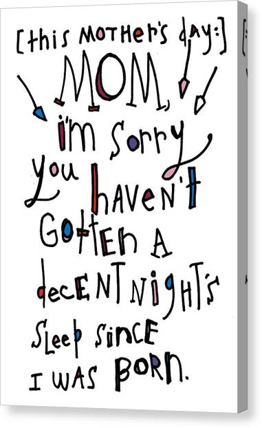 Decent Night Sleep Canvas Print