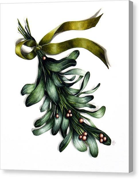 Mistletoe Canvas Print - Deck The Halls by Christina Meeusen