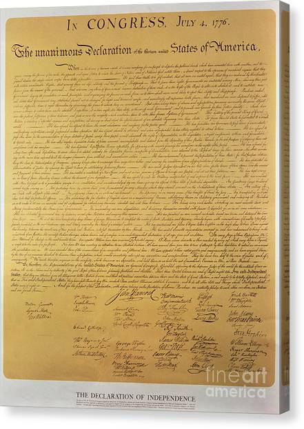 1823 Canvas Print - Declaration Of Independence by American School