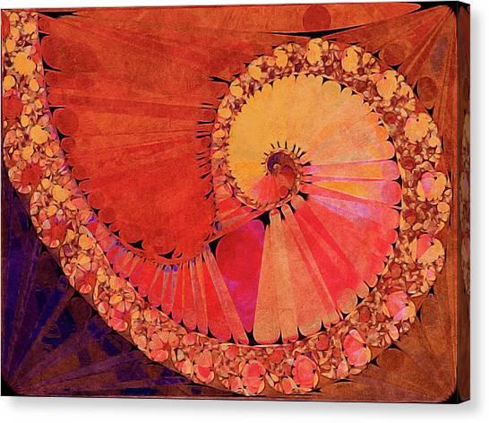 Canvas Print featuring the digital art Deco Elemental by Susan Maxwell Schmidt