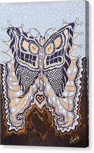Deco Face Canvas Print
