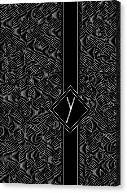 Deco Jazz Swing Monogram ...letter Y Canvas Print