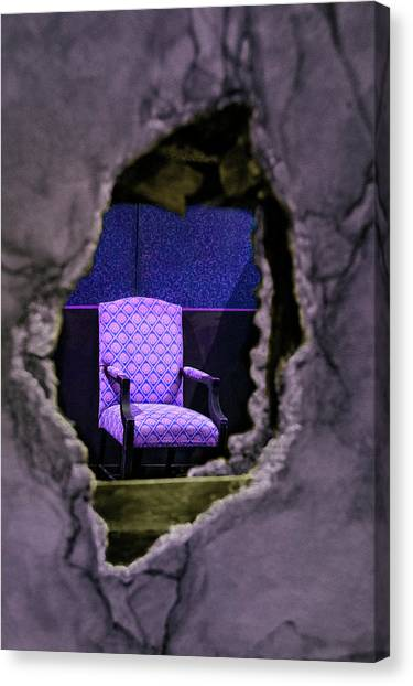 Drywall Canvas Print - Deconstruction - A Chair Seen Through A Wall by Mitch Spence