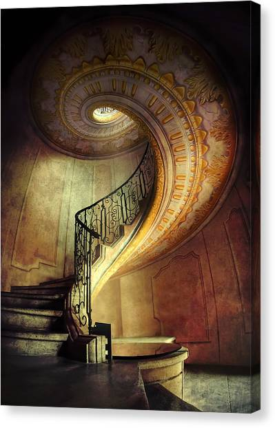 Decorated Spiral Staircase  Canvas Print