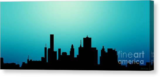 Decorative Abstract Skyline Houston R1115a Canvas Print