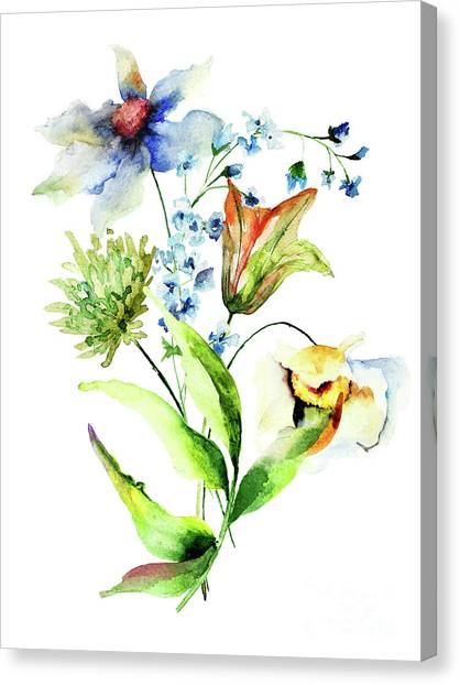 Decorative Flowers Canvas Print