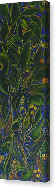 Decorative Leaves Canvas Print