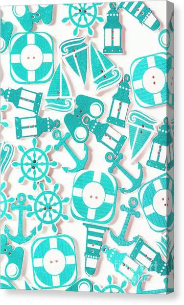 Beach Artwork Canvas Print - Decorative Marine Scene by Jorgo Photography - Wall Art Gallery