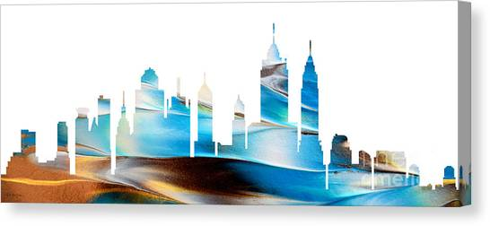 Decorative Skyline Abstract New York P1015a Canvas Print