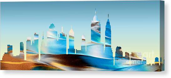 Decorative Skyline Abstract New York P1015b Canvas Print