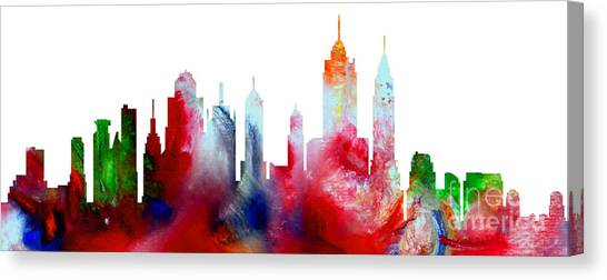 Decorative Skyline Abstract New York P1015c Canvas Print