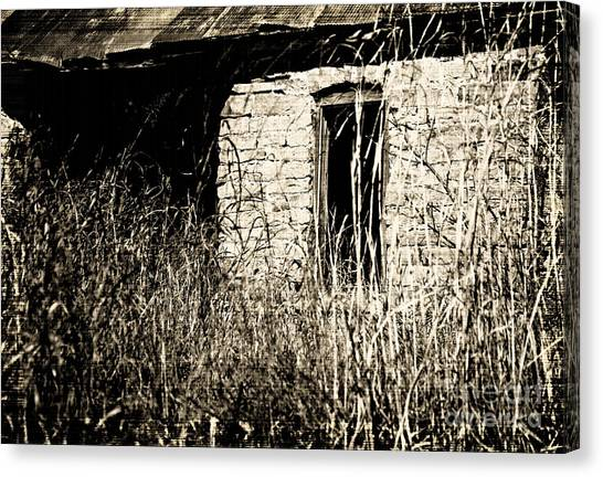 Decrepit With Window Canvas Print by Fred Lassmann