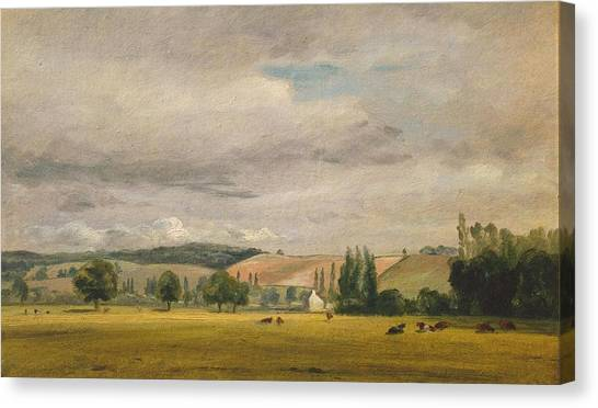 Dedham Canvas Print - Dedham Vale With The House by John Constable