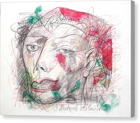 Dedicated To Michael Jackson Canvas Print by Ludmila Kalmaeva