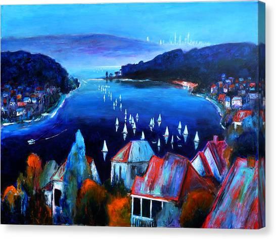 Deep Blue Day Canvas Print