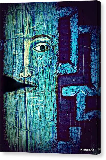 Dies In His Actions Canvas Print - Deep Cut by Paulo Zerbato