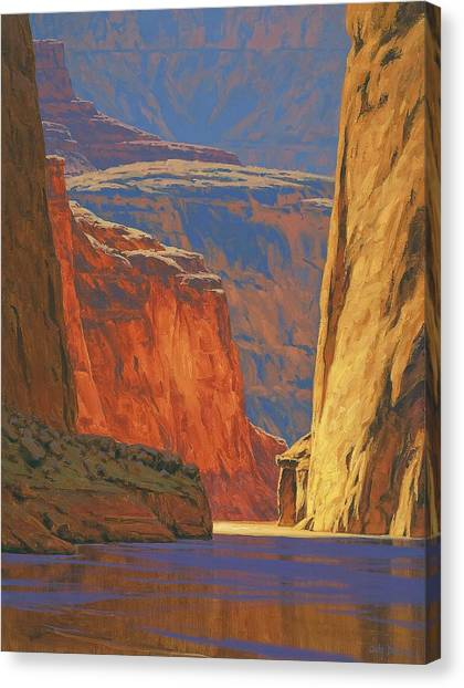 Canyon Canvas Print - Deep In The Canyon by Cody DeLong
