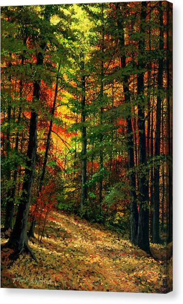 Orange Tree Canvas Print - Deep In The Forest by Frank Wilson