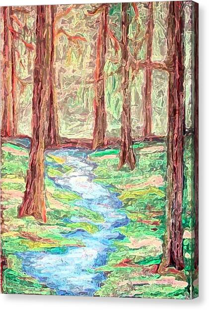 Deep In The Forest Canvas Print by Margie  Byrne