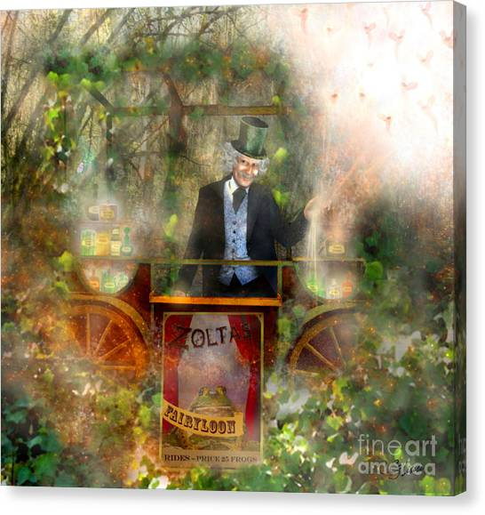 Deep In The Woods - Is The Fairyloon Man Canvas Print by Carrie Jackson