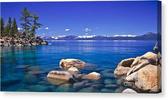 Lake Tahoe Canvas Print - Deep Looks Panorama by Vance Fox
