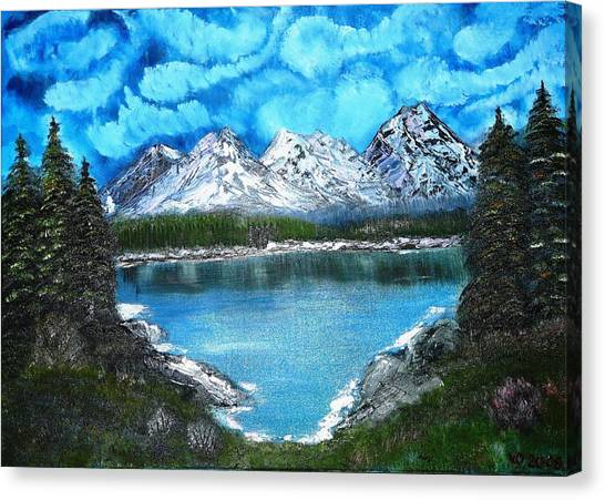 Deep Mountain Lake Canvas Print