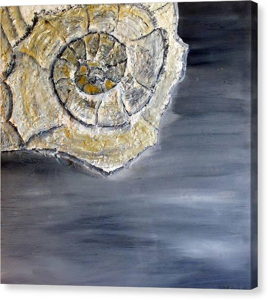 Deep Ocean Seashell Canvas Print