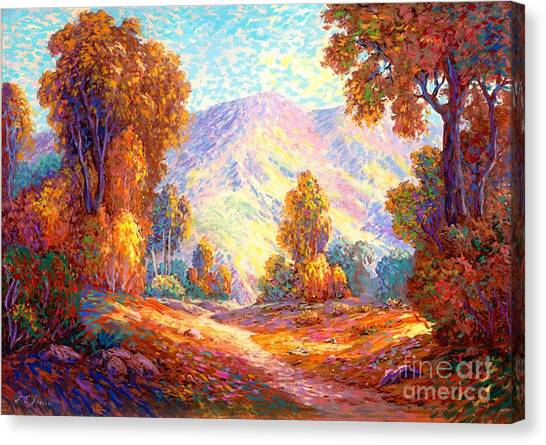 California Landscape Art Canvas Print - Radiant Peace, Colors Of Fall by Jane Small