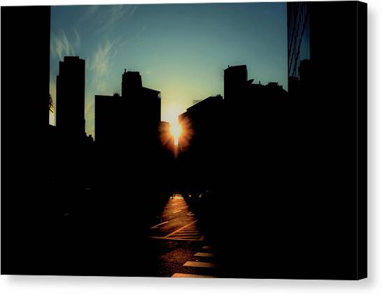 City Sunsets Canvas Print - Deep Shadow by Hyuntae Kim