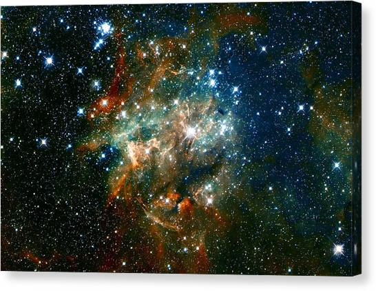 Deep Space Star Cluster Canvas Print
