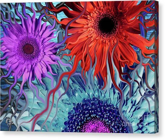 Deep Water Daisy Dance Canvas Print