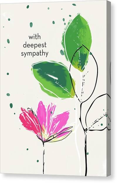Sympathy Canvas Print - Deepest Sympathy Daisy- Art By Linda Woods by Linda Woods